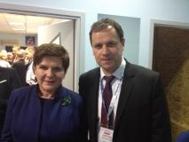 LLRA lyderis su kandidate į premjeres Beata Szydło