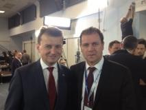 LLRA lyderis su PiS parlamentinio klubo pirmininku Mariuszu Błaszczak