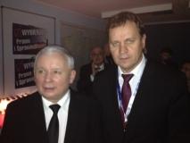 """LLRA lyderis su """"Teisės ir teisingumo"""" pirmininku Jarosławu Kaczyńskiu"""