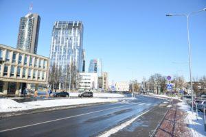 Ulica im. Prezydenta Polski Lecha Kaczyńskiego w Wilnie (© Marlena Paszkowska)