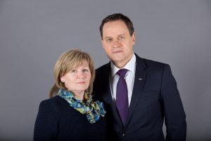 Waldemar Tomaszewski z żoną Wiolettą. Marzec 2019 roku
