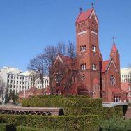 Mińsk. Kościół pw. św. Szymona i Heleny ufundowany w roku 1910 przez polskiego ziemianina Edwarda Woyniłłowicza